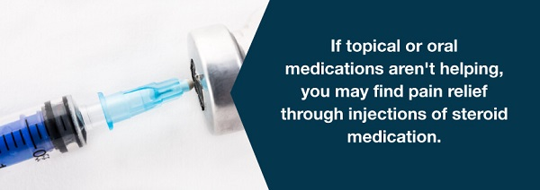 Those with joint disease, arthritis or tendinitis commonly use steroid injections.