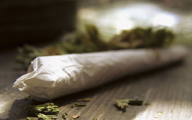 A joint of cannabis  Photo: Alamy