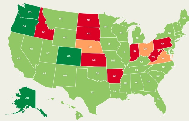 Progress Of Marijuana Legalization In U S States The Cannabis
