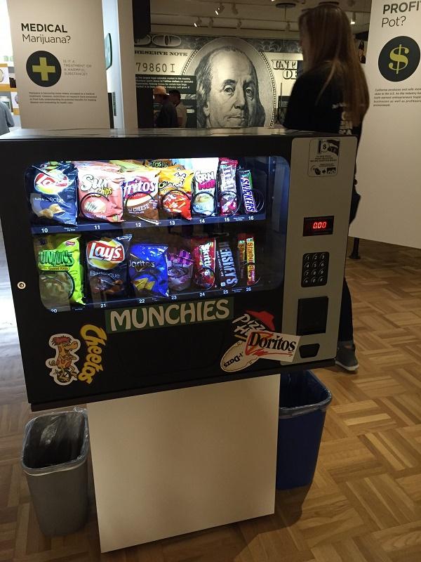 Vending machine for munchies. (Photo credit: Andrew Bender)
