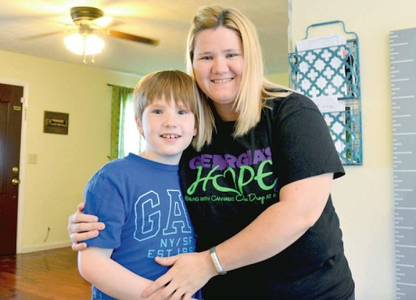 Jillian Bramlett has seen marijuana- derived medicine do amazing things for son Aiden, who had a seizure disorder, autism, and memory problems.