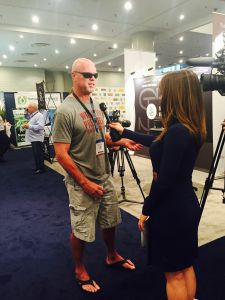 Former Bears QB Jim McMahon was at the Cannabis World Congress and Business Expo to advocate for medical marijuana in the NFL. (Photo: Josh Keefe/Observer)