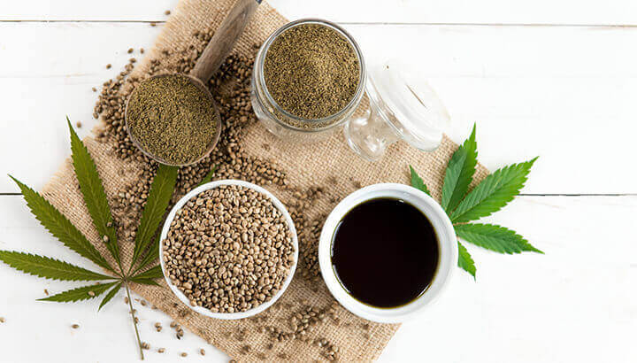 Hemp contains CBD, responsible for multiple health-promoting effects.