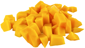 Mangoes go well with cannabis edibles.