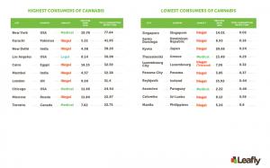 Cannabis consumption worldwide