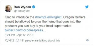 In addition to legalizing hemp under federal law, the Hemp Farming Act of 2018 would remove restrictions on banking access, water rights and other roadblocks that farmers and processors currently face.