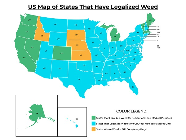 As time goes by, we notice a significant shift in cannabis legalization across all U.S. states.