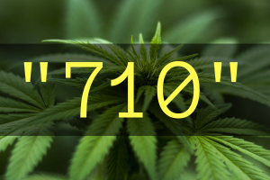 Hash oil's common street names include '710'.