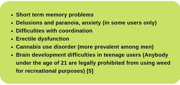 Dangers of Recreational Use of Marijuana